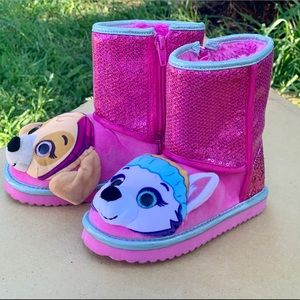 Shoes - Paw Patrol Toddler Girls Pink Sequin Boots New